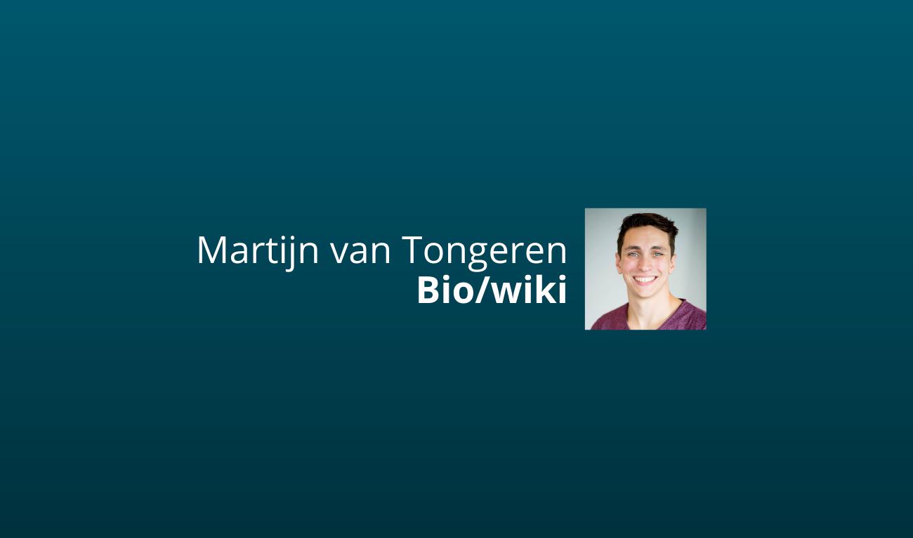martijn van tongeren bio wiki