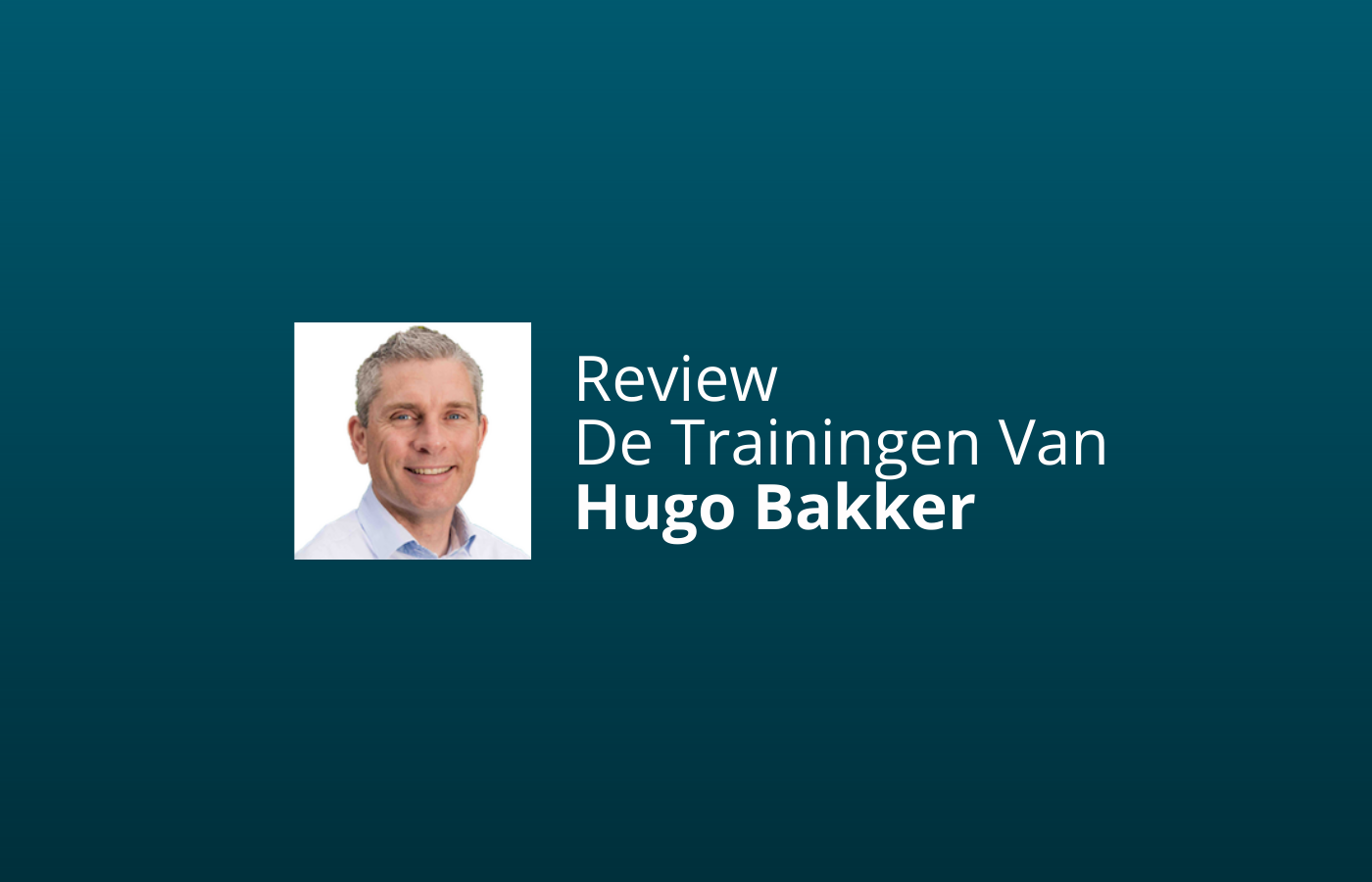 review van de trainingen van hugo bakker
