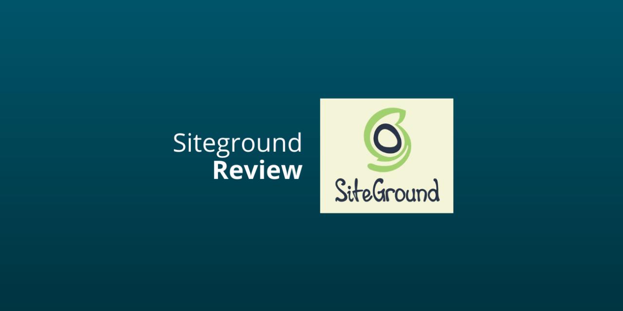 Siteground Webhosting Ervaringen Nederland [Eerlijke Review] [2020]