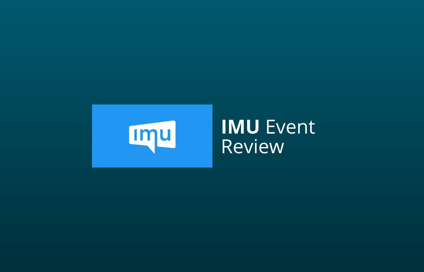 IMU event review ervaringen van ons