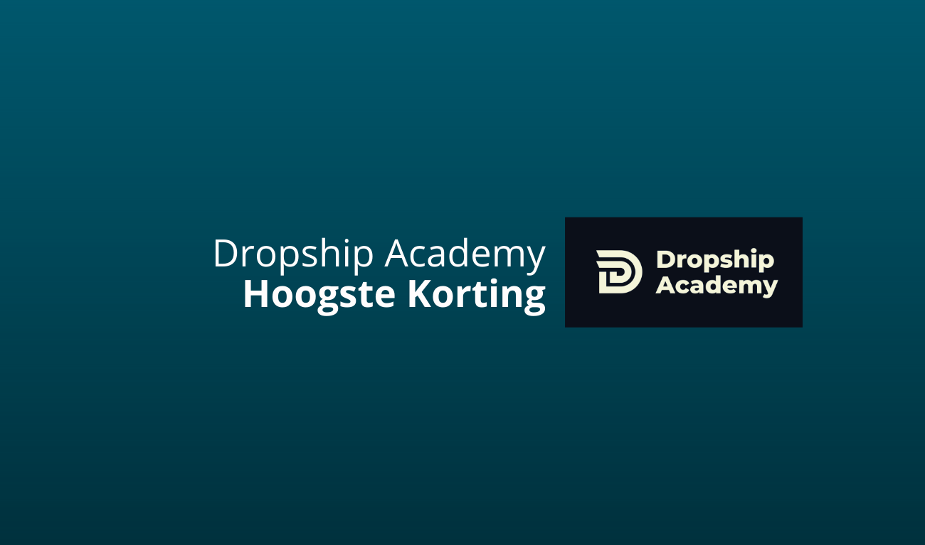 dropship academy hoogste korting