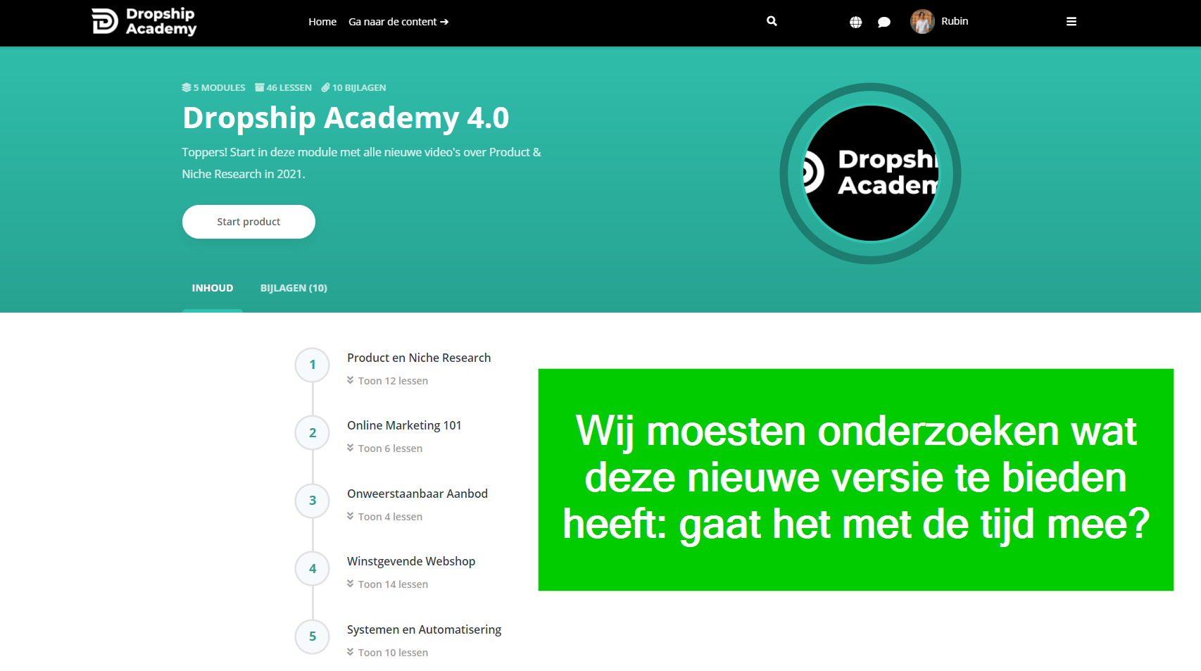 dropship academy 4 review